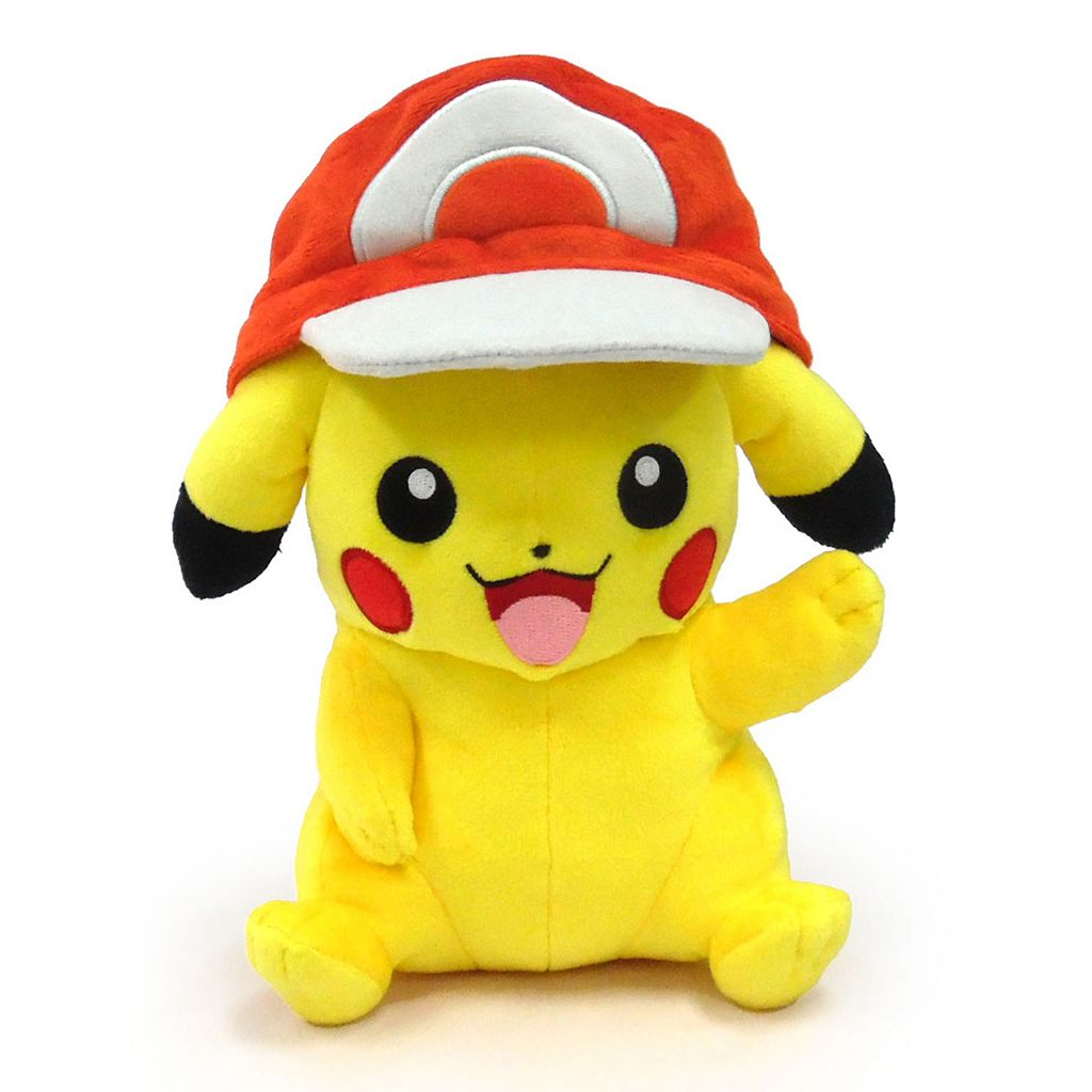 Pokémon Large Pikachu Plush with Ash's Hat