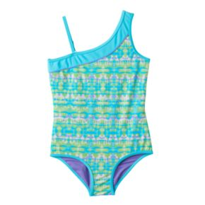 Girls 4-6x Free Country Asymmetrical One-Piece Swimsuit