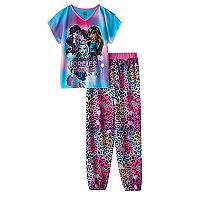 Girls 6-16 Monster High Draculaura, Cleo De Nile & Frankie Stein Pajama Set