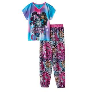 Girls 6-16 Monster High Draculaura, Cleo De Nile & Frankie Stein Pajama Set