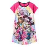 Girls 6-16 Monster High Draculaura, Frankie Stein & Lagoona Blue Dorm Nightgown