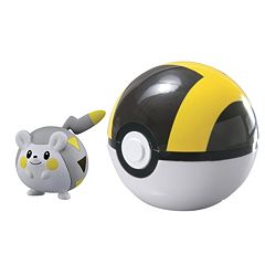 Pokemon Togedemaru Figure & Ultra Ball Clip 'N' Carry Poke Ball Set