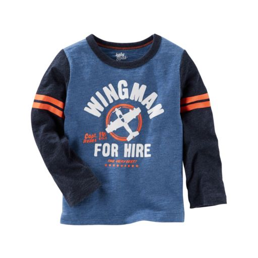 Toddler Boy OshKosh B'gosh® Long Sleeve Colorblocked Applique Graphic Tee