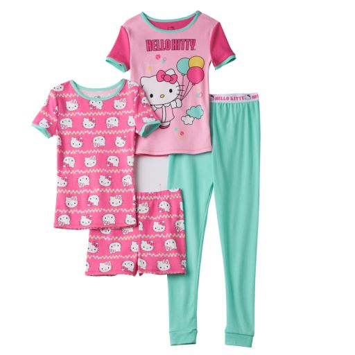 Girls 4-10 Hello Kitty® 4-pc. Balloon Pajama Set