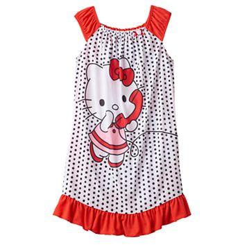 Girls 4-12 Hello Kitty® Dots Dorm Nightgown