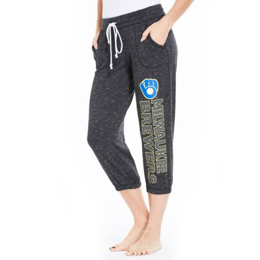 Women's Concepts Sport Milwaukee Brewers Ringer Capri Pants