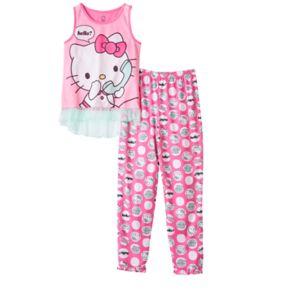 Girls 4-12 Hello Kitty® Phone Pajama Set