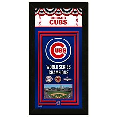 Chicago Cubs World Series Champions 14' X 27' Framed Banner