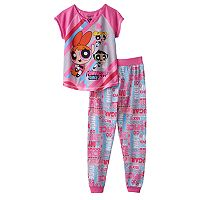 Girls 4-12 Powerpuff Girls Blossom, Bubbles & Buttercup Pajama Set