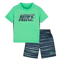 Toddler Boy Nike GFX Sublimated Print Tee & Shorts Set