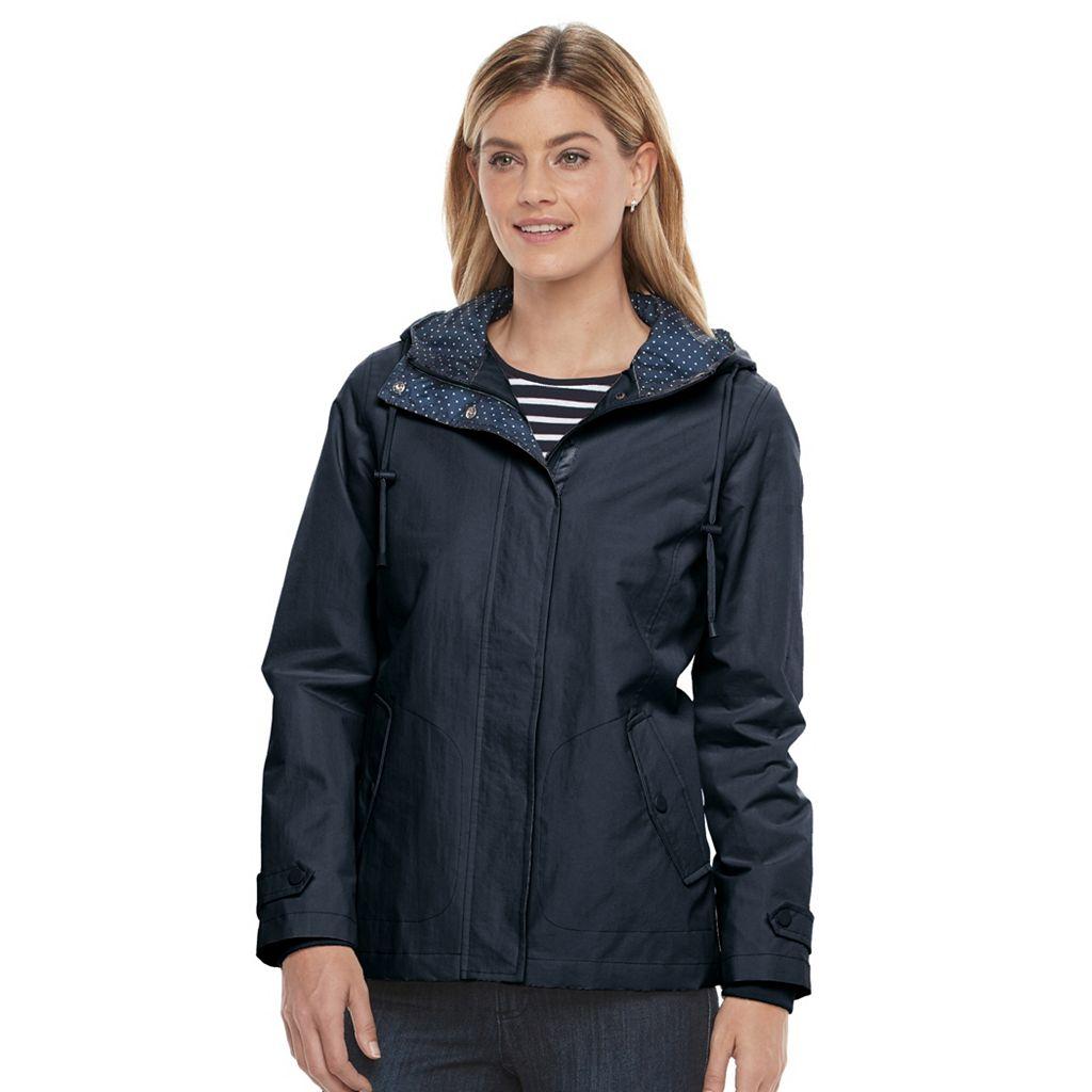 Women's Weathercast Hooded Windbreaker Jacket