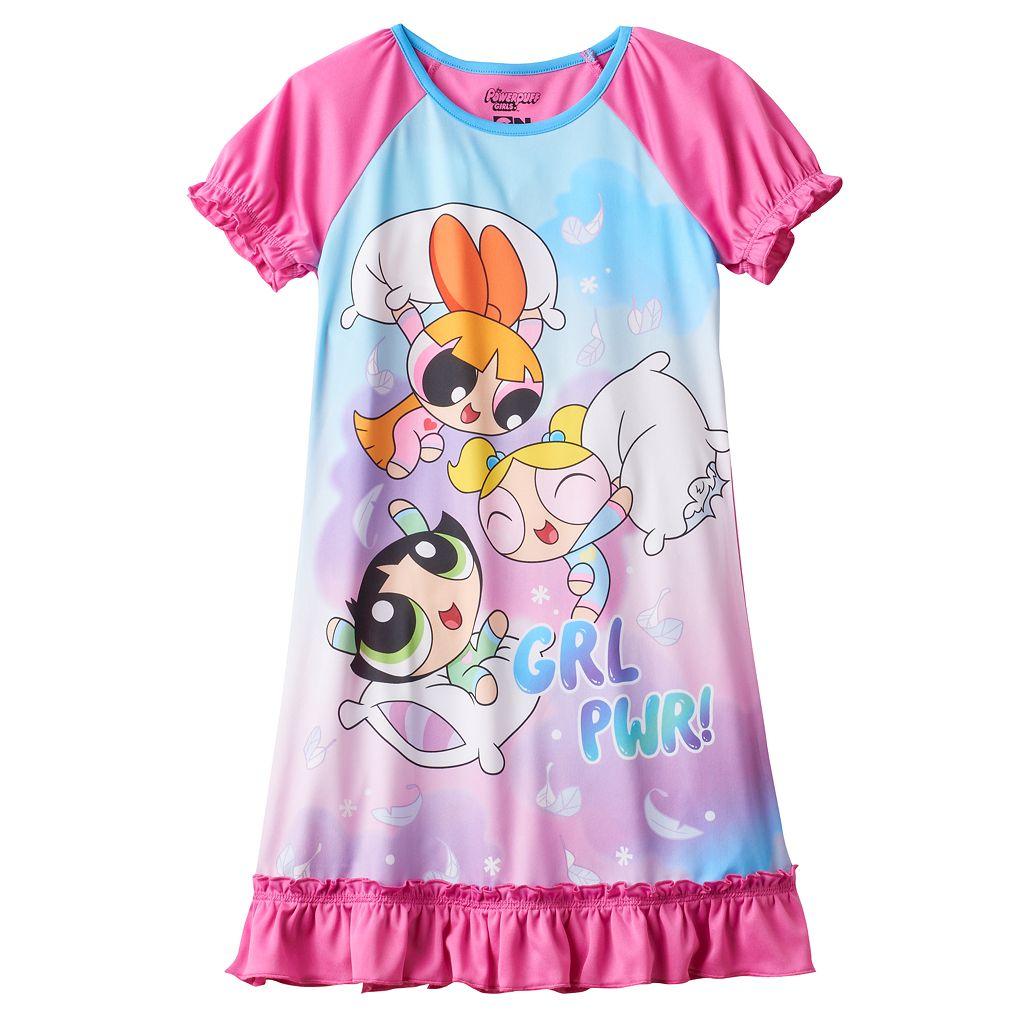 Girls 4-12 Powerpuff Girls Buttercup, Blossom & Bubbles Dorm Nightgown