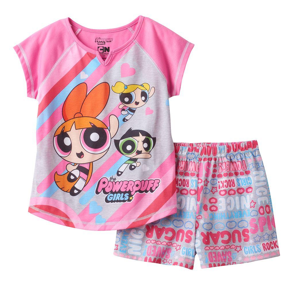 Girls 4-12 Powerpuff Girls Buttercup, Blossom & Bubbles Pajama Set