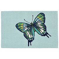 Trans Ocean Imports Liora Manne Front Porch Butterfly Indoor Outdoor Rug