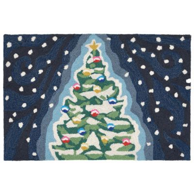 Liora Manne Front Porch Christmas Tree Indoor Outdoor Rug