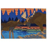 Trans Ocean Imports Liora Manne Front Porch Moose Kiss Indoor Outdoor Rug