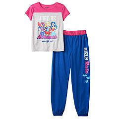 Girls 4-12 DC Super Hero Girls Batgirl, Supergirl & Wonder Woman 'Just Be Awesome' Pajama Set