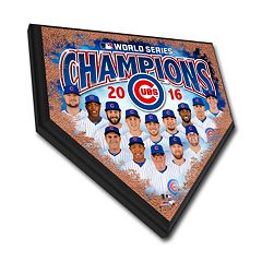 Chicago Cubs 2016 World Series Champions Home Plate 12' X 12' Plaque