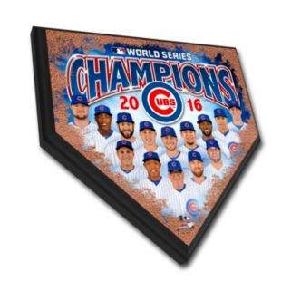 "Chicago Cubs 2016 World Series Champions Home Plate 12"" X 12"" Plaque"