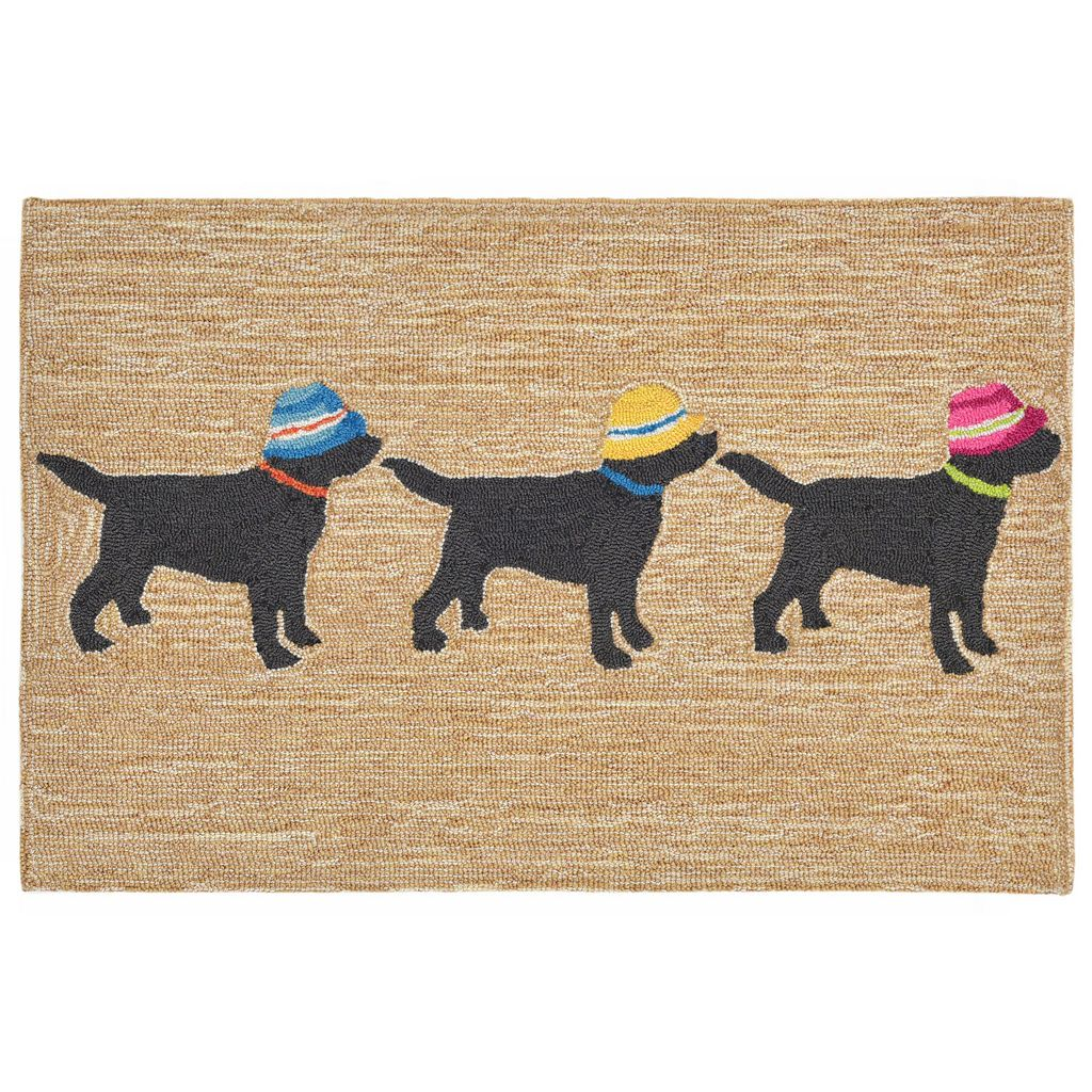 Trans Ocean Imports Liora Manne Front Porch Three Dogs Vacation Indoor Outdoor Rug