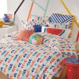 Scribble Check Mark Comforter Set