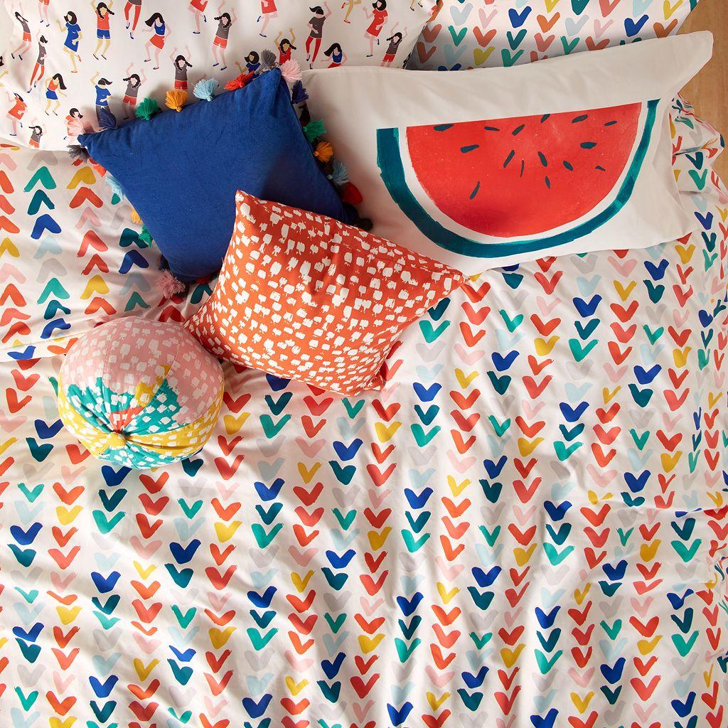Scribble Check Mark Comforter Set