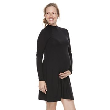 Maternity a:glow Mockneck Swing Dress