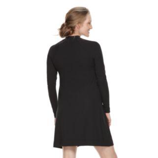 Maternity a:glow Mockneck Swing Dress
