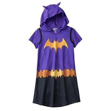 Girls 4-12 DC Super Hero Girls Batgirl Hooded Dorm Nightgown