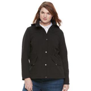 Plus Size Weathercast Hooded Anorak Jacket