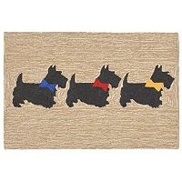 Trans Ocean Imports Liora Manne Front Porch Scotties Indoor Outdoor Rug