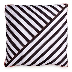 Scribble Stripe Throw Pillow