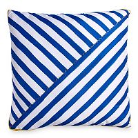 Scribble Stripe Throw Pillow