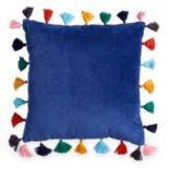Scribble Velvet Throw Pillow