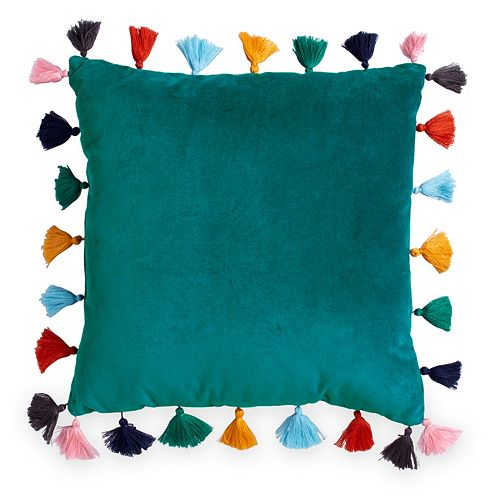 Scribble Velvet Throw Pillow