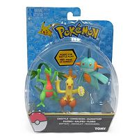 Pokémon Combusken, Marshtomp & Grovyle Action Pose Figure Set