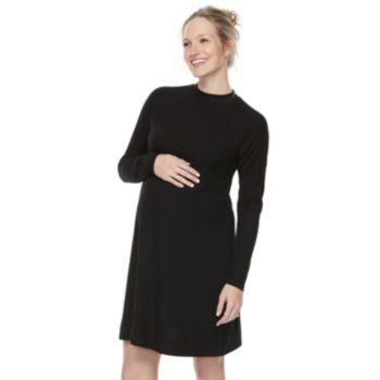 Maternity a:glow Ribbed Swing Dress