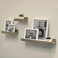 Harbortown Gallery Ledge Wall Shelf 3-piece Set (Gray)