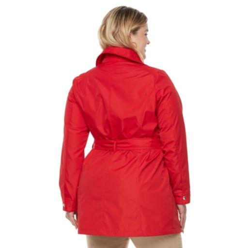 Plus Size Weathercast Bonded Trench Coat