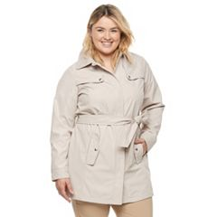 Plus Size Weathercast Bonded Trench Coat