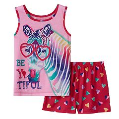 Girls 4-16 4D Interactive Zebra 'Be You Tiful' Pajama Set