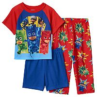 Toddler Boy PJ Masks Owlette, Gekko, Catboy & Villains Pajama Set
