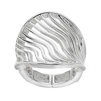 Jennifer Lopez Openwork Wavy Stretch Ring