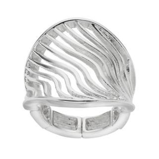 Jennifer Lopez Openwork Wavy Stretch Ring
