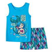 Girls 4-16 4D Interactive Mermaid Pajama Set