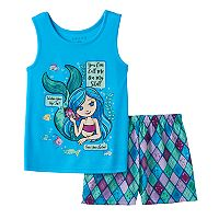 Girls 4-16 4D Interactive Mermaid Pajama Set