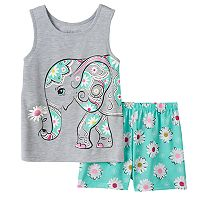 Girls 4-16 4D Interactive Elephant Pajama Set
