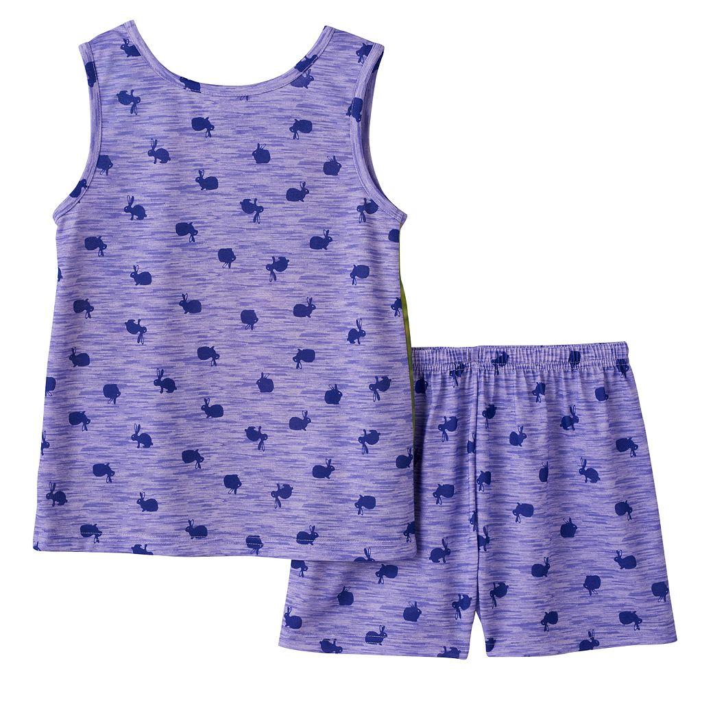 Girls 4-16 4D Interactive Bunny Pajama Set