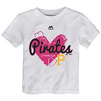 Toddler Majestic Pittsburgh Pirates Heart Tee