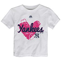 Toddler Majestic New York Yankees Heart Tee